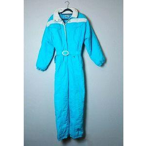 Obermeyer Ski Suit vintage 80s Teal